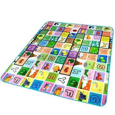 Imagem de Tapete Infantil Dobrável Térmico com Bolsa para Transporte 1,80X1,20m