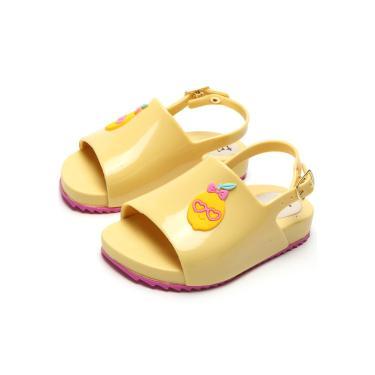 Sandália Luelua Menina Limão Amarelo Tricae DF405-87 menina