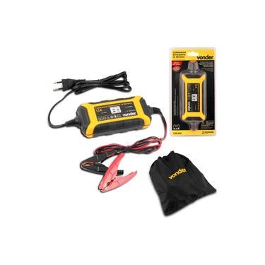 Carregador de Bateria Inteligente Vonder CIB030 30W 127V Recarga de Baterias Com Bolsa Amarelo Preto