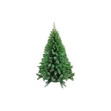 Árvore de Natal Pinheiro Escócia 2,10 m 210 cm 858 Galhos Magizi Cod 17959 com 100 Luzes de Led Brancas 110v