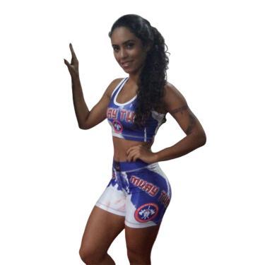 Bermuda Short de Compressão - Feminino - 1801 - Muay Thai - GG