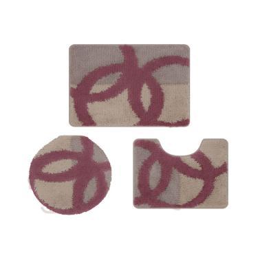 a34f62a8e4 Jogo de tapete de banheiro Van Gogh 3 peças Jolitex