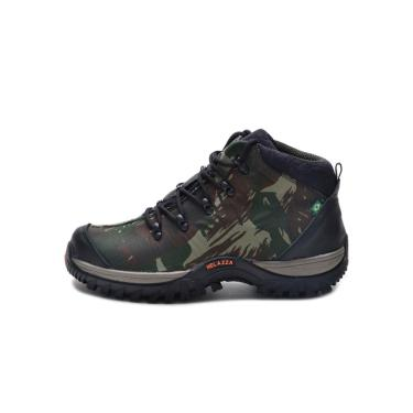 Bota Helazza Boots Adventure Camuflada Verde  masculino