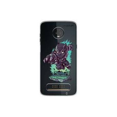 Capa para Moto Z3 Play - Os Vingadores | Pantera Negra