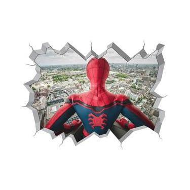 Adesivo 3D Buraco na Parede Spider Man Marvel Homem Aranha