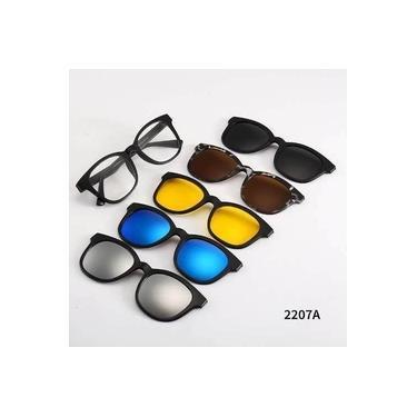 Imagem de Armação para Óculos de Grau + 5 Lentes Clip On de Sol