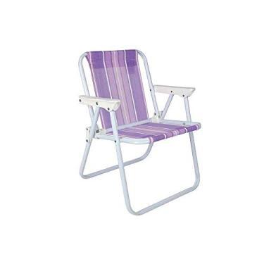Cadeira de Praia Aço Alta Infantil - Estampas Variadas - Mor