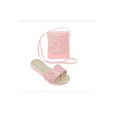 Chinelo Slide Candy Com Bolsinha Pampili 123.100