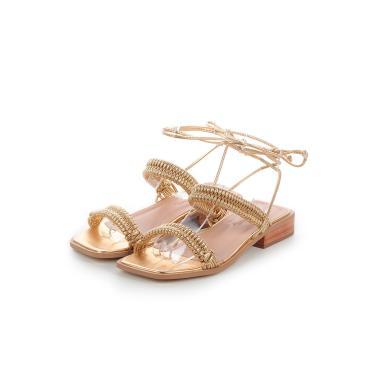 Imagem de Sandália Flat de Tiras Paloma Damannu Shoes Dourado  feminino
