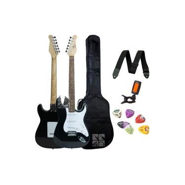 Imagem de Guitarra - Stratocaster - Preta - Schieffer SCHEG-002-BK