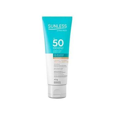 Protetor Solar Facial Sunless FPS 50 Com Base 60g - Bege Claro