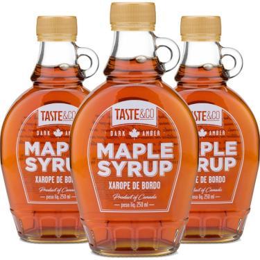 Kit 3 Xarope de bordo Maple Syrup 250ml Taste & Co