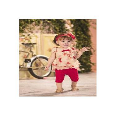 Conjuntos menina composto de blusa e calça legging  Sonho Mágico