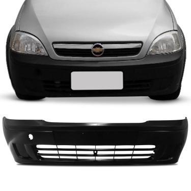 Parachoque Dianteiro Corsa Hatch Sedan 2003 2004 2005 2006 2007 Preto Liso sem Furo para Milha