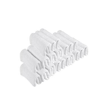 Imagem de Kit 30 Toalhas de Rosto Para Salão Beleza 100% Algodão 40 x 65 cm Branca Emcompre