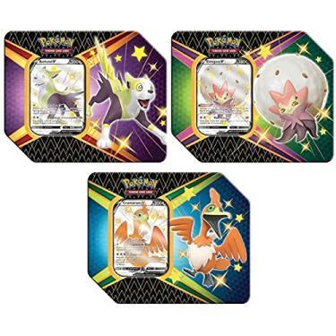 Imagem de 3 Latas Pokémon Destinos Brilhantes Boltund V, Cramorant V e Eldegoss V Copag Cartas Cards