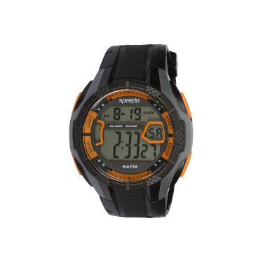 22e97e9a6a4 Relógio Digital Speedo 81141G0 - Masculino - PRETO LARANJA Speedo