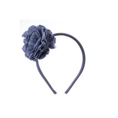 Tiara Flor Azul Hortencia
