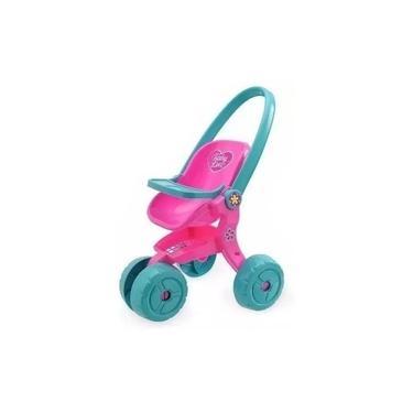 Carrinho De Boneca Baby Love Alive Rosa - Usual Brinquedos