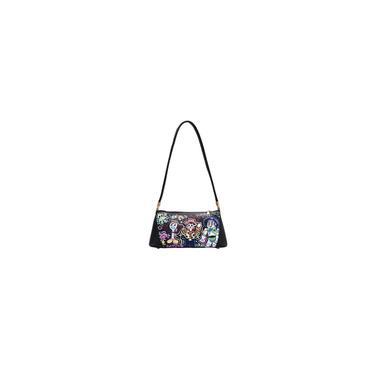 Bolsa de couro pu feminina bolsa quadrada de grafite em cruz