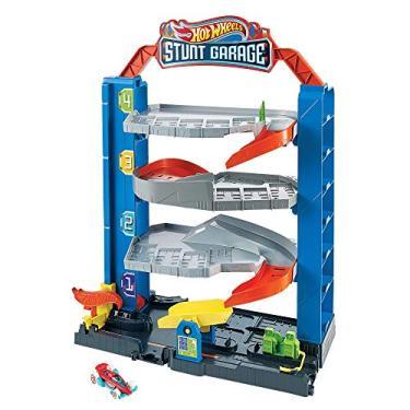 Imagem de City Stunt Garagem Hot Wheels, Mattel, 4 Pisos, GNL70