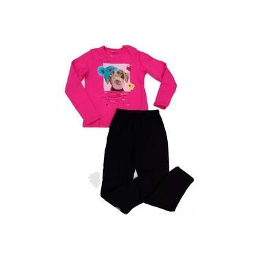 Conjunto Blusão Cachorrinho e Calça de Moletom Feminino para Menina Brandili - Ref. 53648