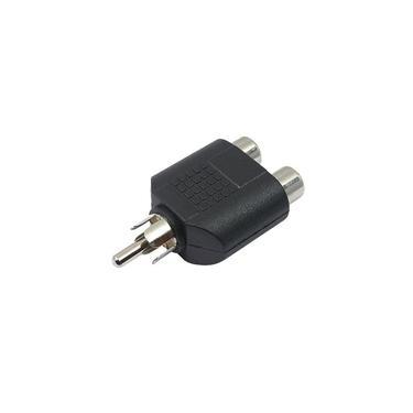 Plug Adaptador 2 RCA Fêmea / 1 RCA Macho Mono