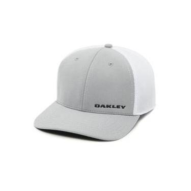 Boné Oakley Silicon Bark Trucker 4.0 Cinza com Branco