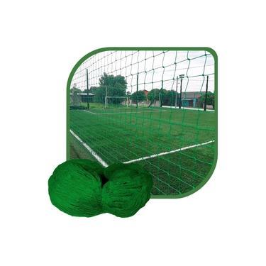 Rede de Proteção Esportiva 7x30m Fio 4 Malha 12cm Verde