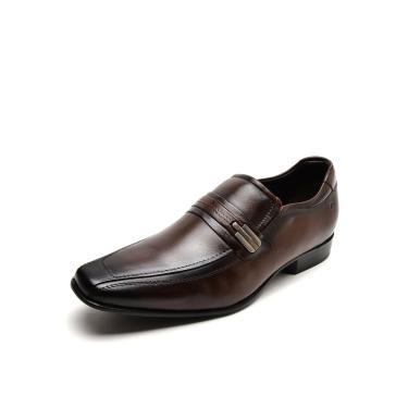 Sapato Social Couro Democrata Metal Marrom Democrata 131108-002 masculino