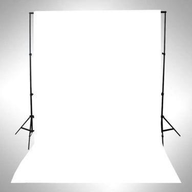 Imagem de Pano para fundo de fotografia, suporte universal branco puro para estúdio fotográfico