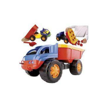 Imagem de Caminhão Iron Truck Blocos De Encaixar Didático Dismat