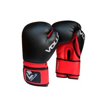 Luva De Boxe E Muay Thai Basic Vollo 12Oz Preto Vermelho