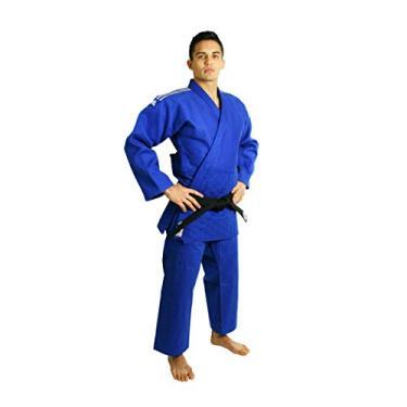 Kimono Judô Adidas Champion II Azul Com Novo Selo Eletronico Da Ijf 175