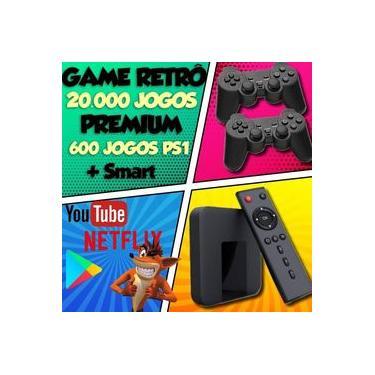 Vídeo Game Retrô Smart 20.000 Jogos + 2 Controles PS + 600 Jogos PS1