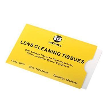 Imagem de KESOTO 100 Folhas de Lenços de Limpeza de Lentes Macias para Lentes Canon Nikon Olympus