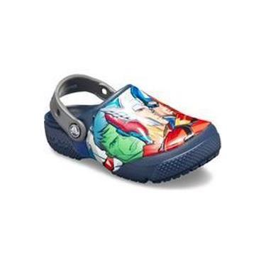 Sandalia Crocs Infantil Multi clog Marvel navy 205505