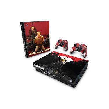Skin Adesivo para Xbox One X - Wolfenstein 2 New Order