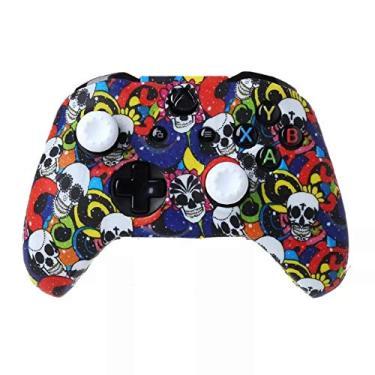 Capa Silicone Pele Protetora Controle Case Proteção de Qualidade Premium Sony Xbox One X S Fat Xbox One Série X S PRONTA ENTREGA BRASIL (Graffiti 07)