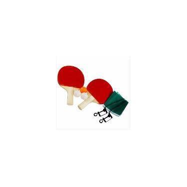 f5e077109 Kit Ping Pong Tênis Mesa 2 Raquetes 3 Bolinhas + Rede