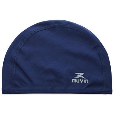 Touca de Natação de Tecido Resist TR - Muvin - Azul Marinho