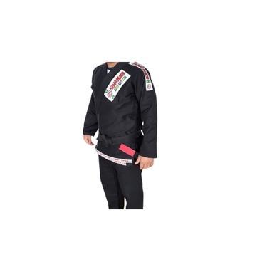 Kimono Jiu Jitsu Preto Reforçado Standart Shiroi