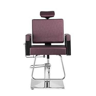 Square Dompel Poltrona Cadeira Reclinavel P/Barbeiro Maquiagem Salao Vinho