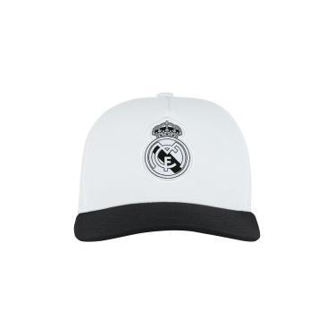 Boné Aba Curva Real Madrid CW adidas - Snapback - Adulto - BRANCO PRETO  adidas 28099ea30f6e7