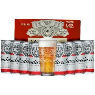 Kit Cerveja Budweiser American Standard Lager - 269ml Cada 8 Unidades