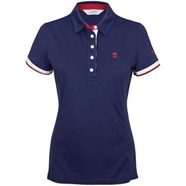 Imagem de Camisa polo Tredstep Performance XG Azul-marinho Vermelho Branco