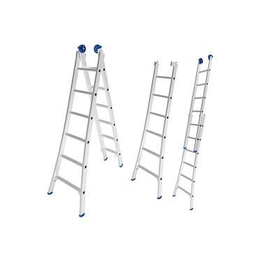 Imagem de Escada de Alumínio Extensiva 2 x 6 Degraus 1,97 x 3,09 Metros MOR