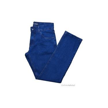 Calça Jeans Masculina Tradicional Reta Nº 36 Ao 56 Malha Grossa Black Jeans