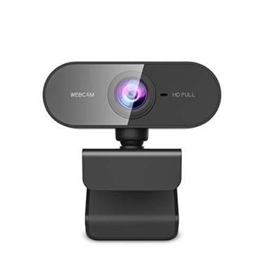 Webcam com microfone, KFF Full HD 1080p USB Web Cam Wide Angle PC/Mac/Laptop Live Streaming Camera para Skype, YouTube, Zoom, Xbox One, Chamadas de Vídeo, Estudo Online e Conferência