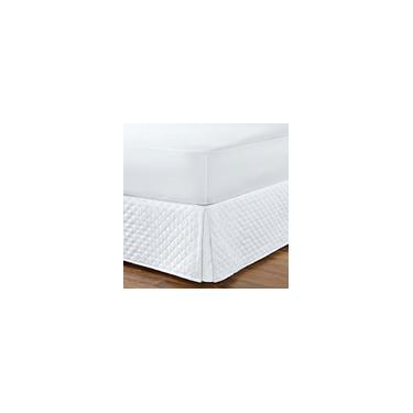 Imagem de Saia Para Cama Box Casal Padrão Com Tecido Matelado Branco